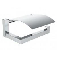 Держатель для туалетной бумаги CUBE, с крышкой, хром, LUX-CUBE511-CR