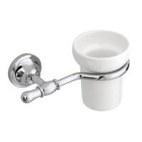 Стакан для зубных щеток JACKLYN, хром, LUX-JAC-CA110-CR