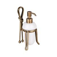 Дозатор для жидкого мыла LUDOVICA, настольный, бронза, LUX-LUD-TR1814-BR
