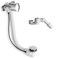 Слив/перелив MOD. А6, для ванны с функцией наполнения, диаметр 52 мм длина 80+10 см, в комплекте сифон с отводом диаметр 40/50 мм, золото, A6 4 21 59 52