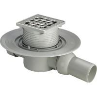 Комплект: Душевой трап SVG, с решеткой 100х100 и сифоном, SVG-ADV60119-CR
