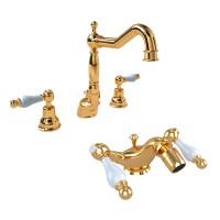 Комплект смесителей EM №2, золото, KIT-EMI-10855-GL