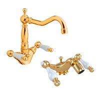 Комплект смесителей EM №4, золото, KIT-EMI-5255-GL