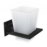 Стакан для зубных щеток SLIM, матовый черный, LUX-SLIM110-BM