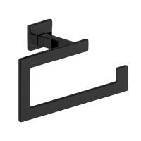 Держатель для полотенца SLIM, кольцо, матовый черный, LUX-SLIM1110-BM