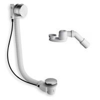 Слив/перелив MOD. D6, для ванны с функцией наполнения, диаметр 52 мм длина 80+10 см, в комплекте сифон с отводом диаметр 40/50 мм, хром, D6 4 16 59 51