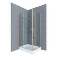 Душевое ограждение ARENA, 100x80x190, левое, профиль золото, стекло прозрачное, ST-AREN1008-LTRGL