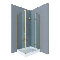 Душевое ограждение ARENA, 120x80x190, правое, профиль золото, стекло прозрачное, ST-AREN1208-RTRGL