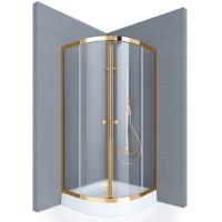 Душевое ограждение GALLERY, 100x100x190, профиль золото, стекло прозрачное, ST-GALL1010-NTRGL