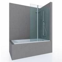 Шторка на ванну SPARK, 85x150, профиль хром, стекло прозрачное, ST-SPARK85-NTRCR