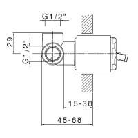 Встраиваемая часть смесителя для душа EMILIA, LUX-EMI-23004-NN