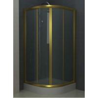 Душевое ограждение BLUME, 90x90x195, профиль золото, стекло прозрачное, ST-BLUM0909-NTRGL