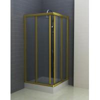 Душевое ограждение CHARM, 90x90x195, профиль золото, стекло прозрачное, ST-CHAR0909-NTRGL