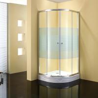 Душевое ограждение GALLERY, 100x100x190, профиль хром, стекло с полосами, ST-GALL1010-NWSCR