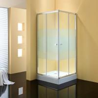 Душевое ограждение JOY, 90x90x190, профиль хром, стекло с полосами, ST-JOY0909-NWSCR
