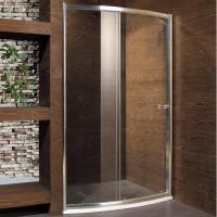Душевая дверь в нишу MOTION, 120x190, профиль хром, стекло прозрачное, ST-MOTI12-NTRCR