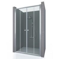 Душевая дверь в нишу ENTRADA, 140x190, профиль хром, стекло прозрачное, ST-ENTR14-NTRCR