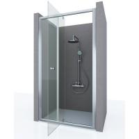 Душевая дверь в нишу FORTUNA, 100x190, профиль хром, стекло прозрачное, ST-FORT10-NTRCR