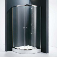 Душевое ограждение GALLERY, 90x90x190, профиль хром, стекло прозрачное, ST-GALL0909-NTRCR