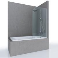 Шторка на ванну MIA, 80x140, профиль хром, стекло прозрачное, ST-MIA08-NTRCR