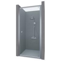 Душевая дверь в нишу PUERTA, 75x190, профиль хром, стекло прозрачное, ST-PUER07-NTRCR