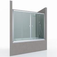 Шторка на ванну REGEN NEW, 150x140, профиль хром, стекло прозрачное, ST-REGE15-NTRCR-NEW