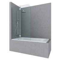 Шторка на ванну SONG, 100x150, левая, профиль хром, стекло прозрачное, ST-SONG10-LTRCR