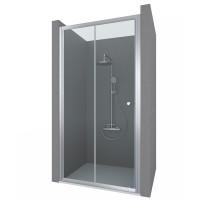 Душевая дверь в нишу VIVA, 100x190, профиль хром, стекло прозрачное, ST-VIVA10-NTRCR