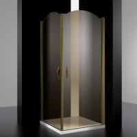Душевое ограждение ELEGANZ, 90x90x207, профиль бронза, стекло тонированное, LUX-ELEG0909-NTOBR