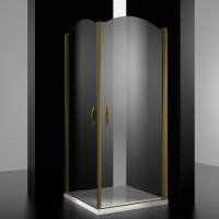 Душевое ограждение ELEGANZ, 90x90x207, профиль бронза, стекло прозрачное, LUX-ELEG0909-NTRBR
