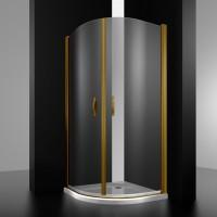 Душевое ограждение LOUVRE, 90x90x200, профиль бронза, стекло прозрачное, LUX-LOUV0909-NTRBR