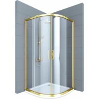 Душевое ограждение VIVIEN, 100x100x200, профиль бронза, стекло прозрачное, LUX-VIVI1010-NTRBR