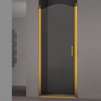Душевая дверь в нишу SCHICK, 80x207, левая, профиль золото, стекло прозрачное, LUX-SCHI08-LTRGL