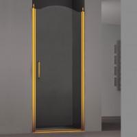 Душевая дверь в нишу SCHICK, 90x207, правая, профиль золото, стекло прозрачное, LUX-SCHI09-RTRGL