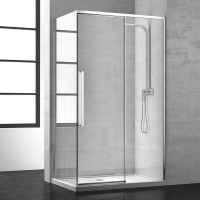 Дверь для душевого ограждения NEW GENERATION, 100x200, правая, профиль блестящее серебро, стекло прозрачное, NGP7ID10830TR