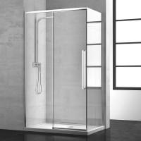 Дверь для душевого ограждения NEW GENERATION, 160x200, левая, профиль блестящее серебро, стекло прозрачное, NGP7IS15830TR