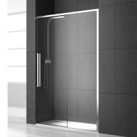Душевая дверь в нишу NEW GENERATION, 110x200, правая, профиль блестящее серебро, стекло прозрачное, NGP8ID10830TR