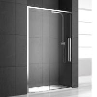 Душевая дверь в нишу NEW GENERATION, 110x200, левая, профиль блестящее серебро, стекло прозрачное, NGP8IS10830TR
