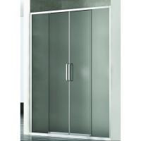 Душевая дверь в нишу NEW GENERATION, 200x200, профиль блестящее серебро, стекло прозрачное, NGP9IR19730TR