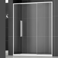 Душевая дверь в нишу NEW GENERATION, 200x200, правая, профиль блестящее серебро, стекло прозрачное, NGPGID19730TR