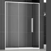 Душевая дверь в нишу NEW GENERATION, 140x200, левая, профиль блестящее серебро, стекло прозрачное, NGPGIS13730TR