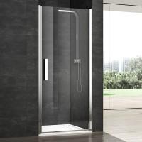 Душевая дверь в нишу VERA VRP1, 75x200, правая, профиль блестящее серебро, стекло прозрачное, VRP1ID07430TR