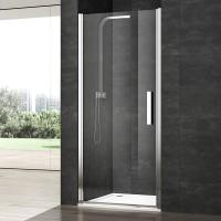 Душевая дверь в нишу VERA VRP1, 82x200, левая, профиль блестящее серебро, стекло прозрачное, VRP1IS08230TR
