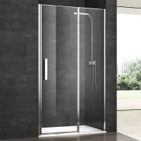 Душевая дверь в нишу VERA VRP4, 90x200, правая, профиль блестящее серебро, стекло прозрачное, VRP4ID08930TR