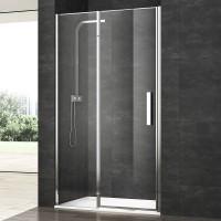 Душевая дверь в нишу VERA VRP4, 90x200, левая, профиль блестящее серебро, стекло прозрачное, VRP4IS08930TR