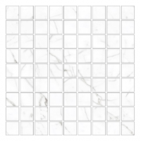 Керамогранит STURM Bianco Calacatta, мозаика, 30х30 см, поверхность глянцевая, K-7338-LR-m01-300x300x10
