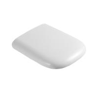 Сиденье BOWL, тонкое легкосъемное с микролифтом, белое/хром, SW-BO40053-CR