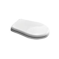 Сиденье ODETTA, с микролифтом, белое/хром, SW-OD22053-CR