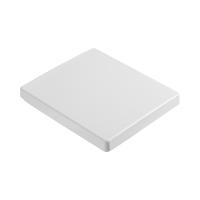 Сиденье QUAD, легкосъемное с микролифтом, белое/хром, SW-QU37053-CR