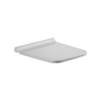 Сиденье ECLIPSE / BELLE / SOLO, тонкое легкосъемное с микролифтом, белое/хром, SW-SO42053-CR
